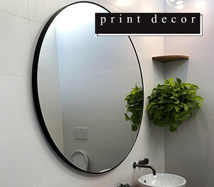 Print Decor Mirrors