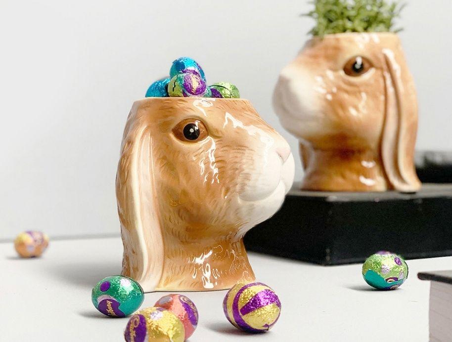 Ceramic bunny planter