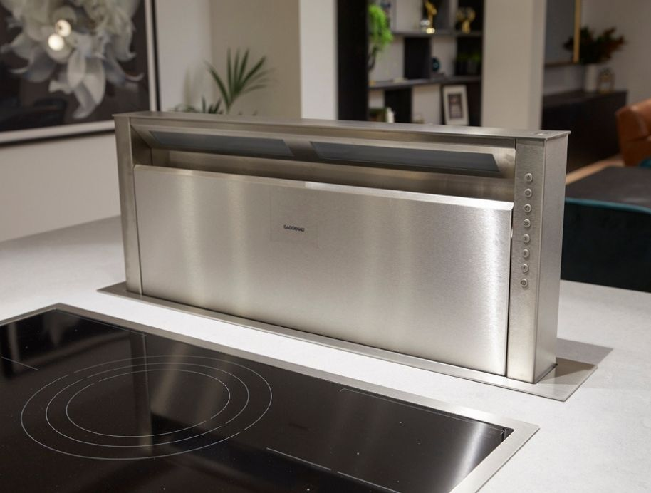 Downdraft extractor in kitchen bench The Block