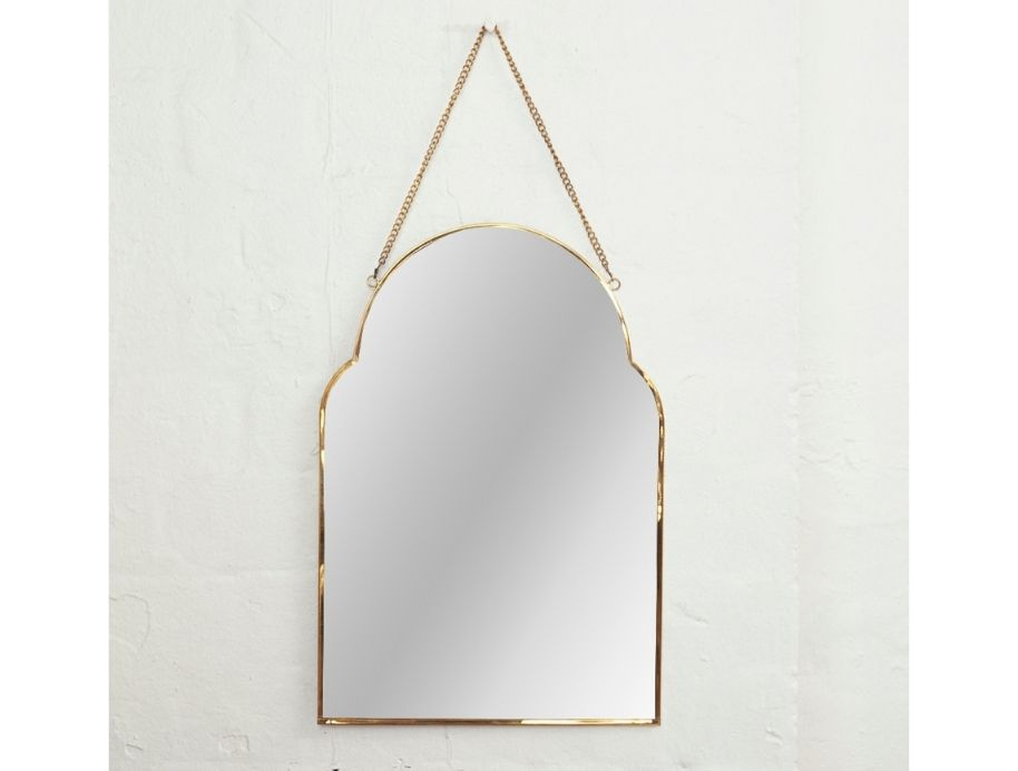 Audre brass hanging mirror