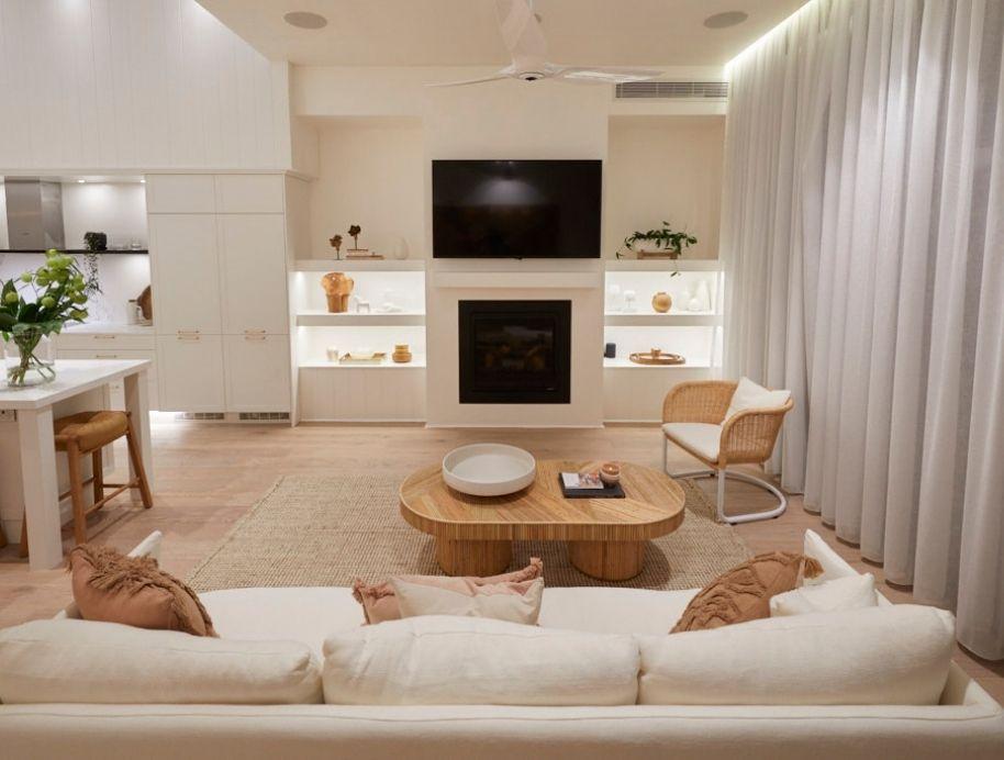 mood lighting in living room - The Block