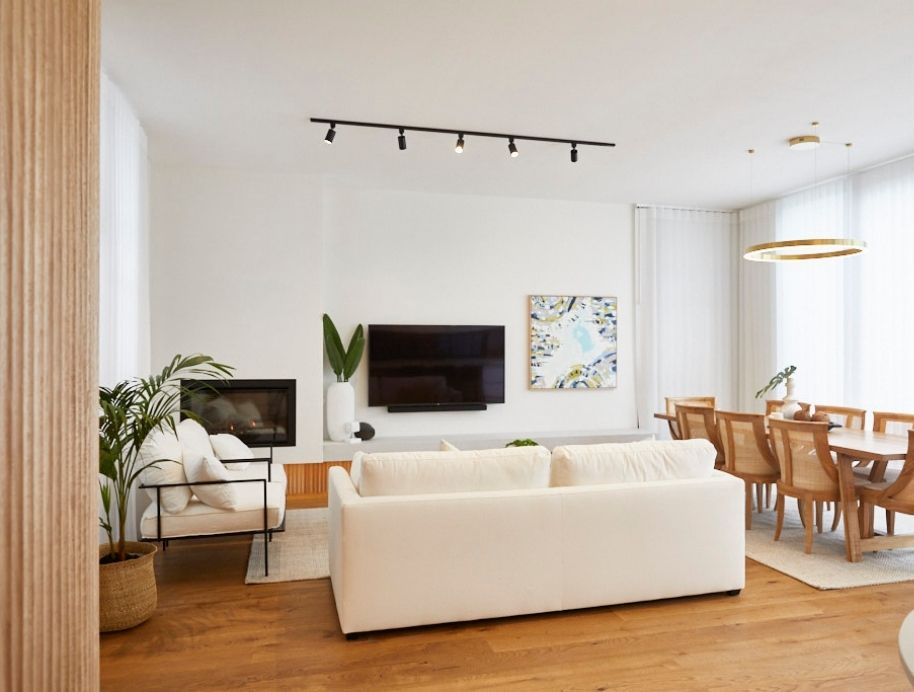 Spotlight lighting in living room - The Block