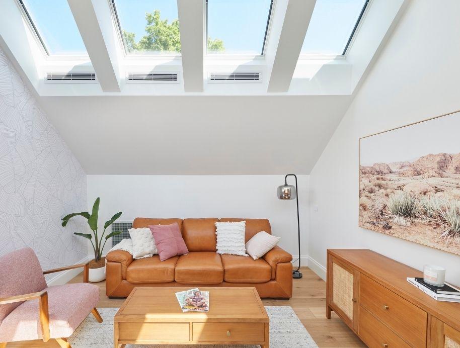 Skylights in living room
