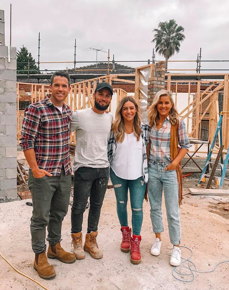 Michael and Carlene with Bec and George home renovation