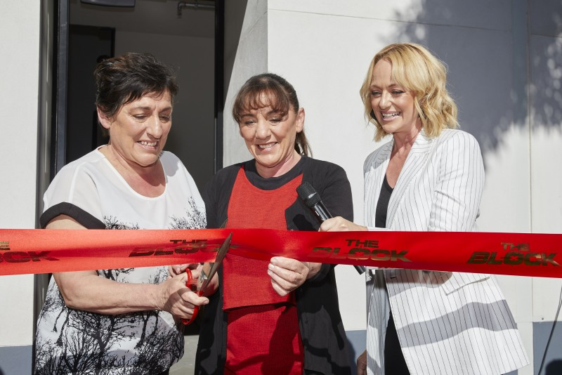 Cutting the ribbon- The Block