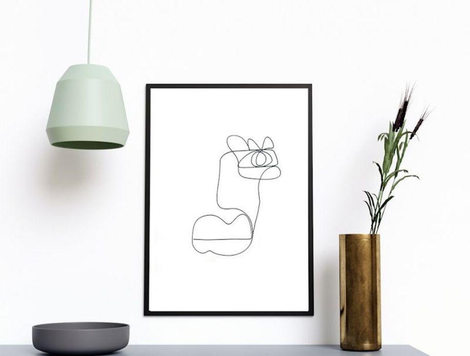 Kai one line art print by Jess Marney