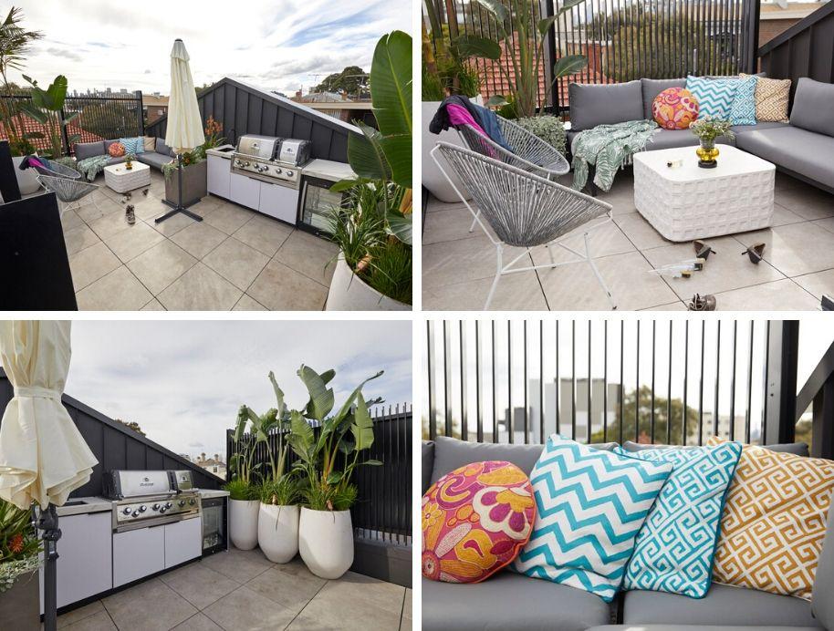 the block 2019 room reveals  roof terrace  redo room and garage