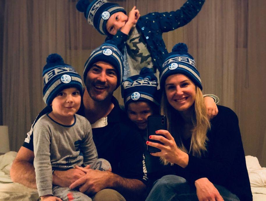 Matt and El'ise football family