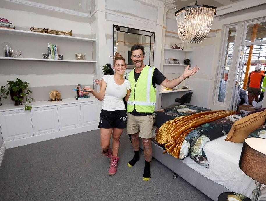 guest bedroom room reveal on week 1 of the block