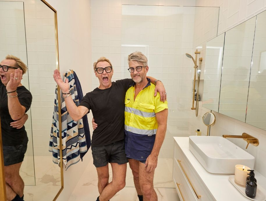 Mitch and Mark Ensuite week 1