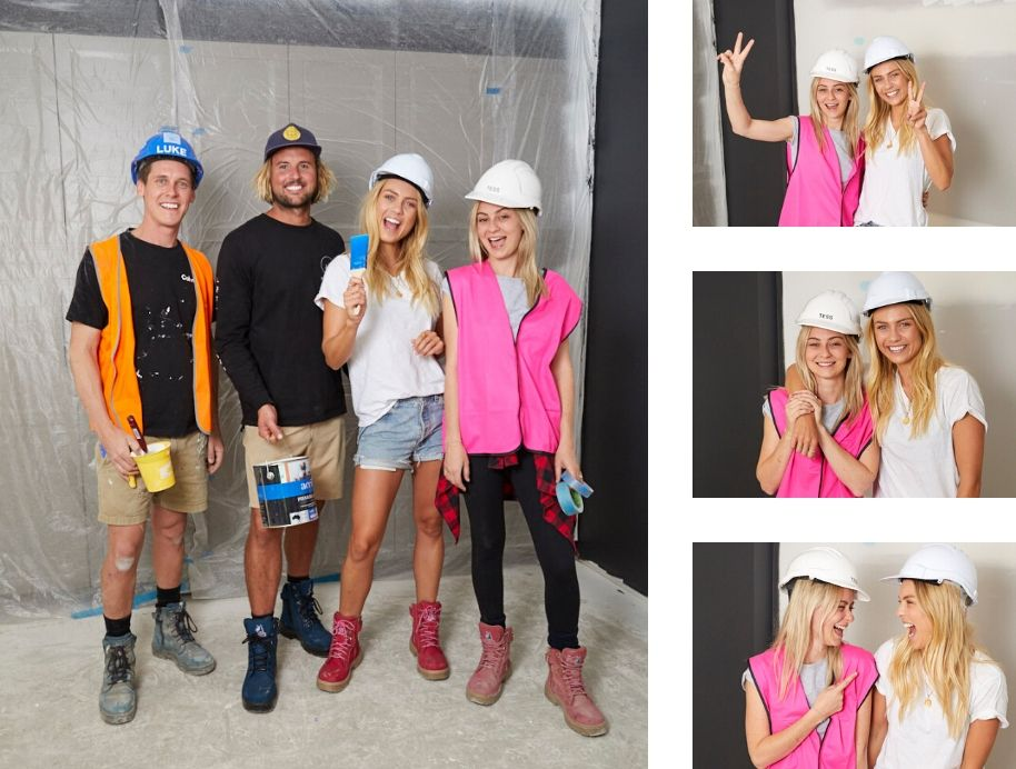 Tess and Luke with Josh and Elyse All Star week The Block
