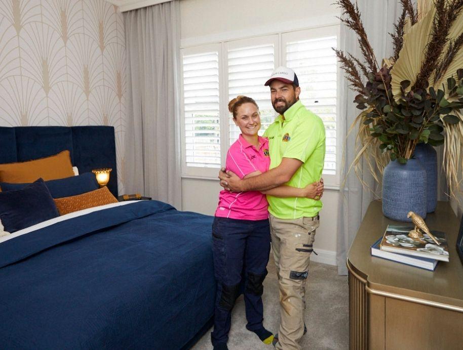 Daniel and Jade Block Master bedroom