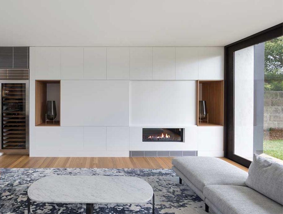 Escea DX series fireplace- The Block