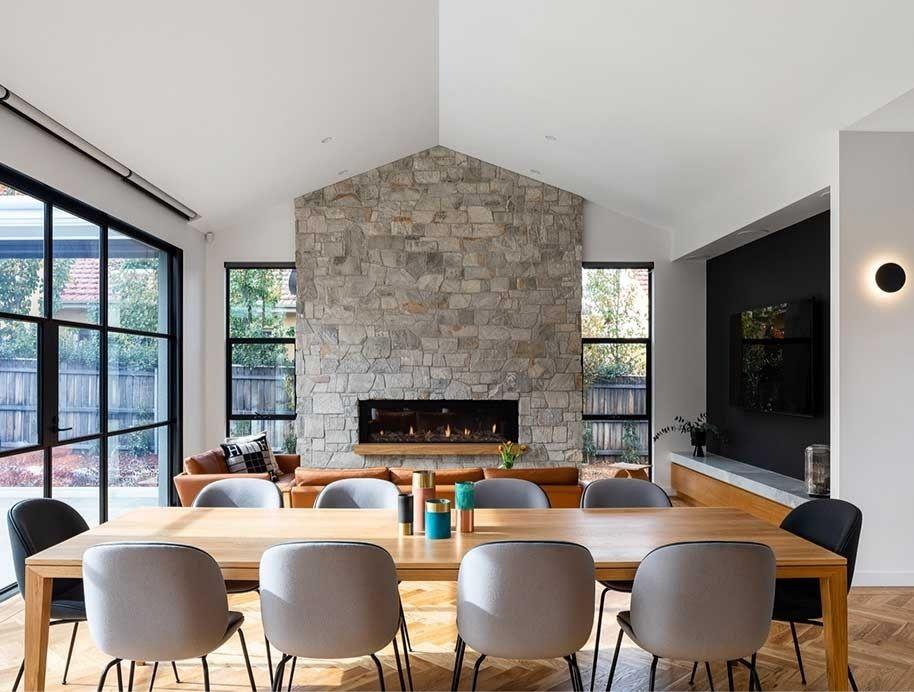 Modern Fireplace, Escea The Block