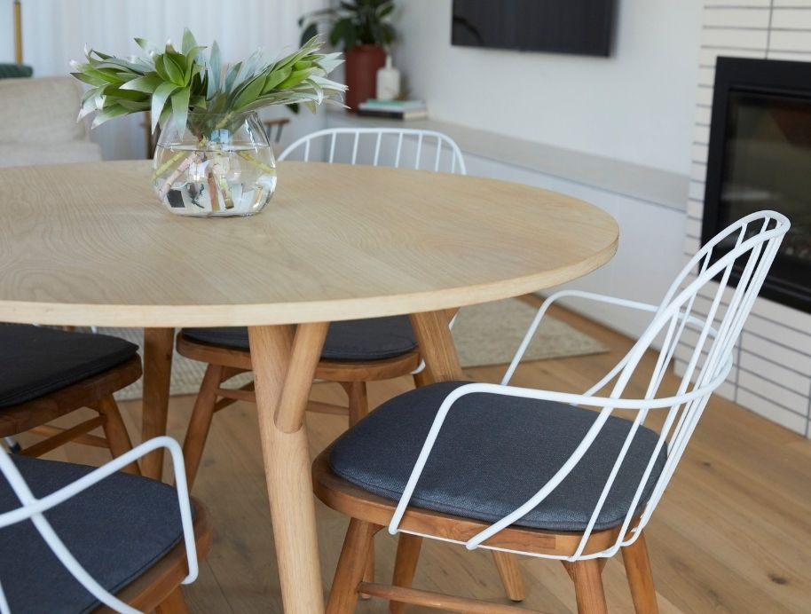 Block dining table auction