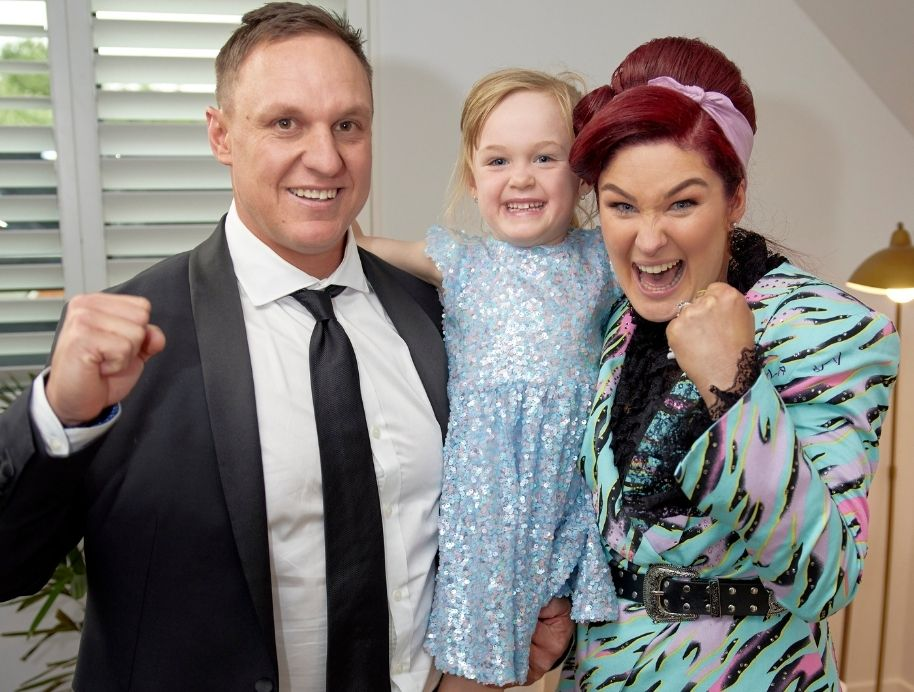 Jimmy and Tam with daughter Frankie