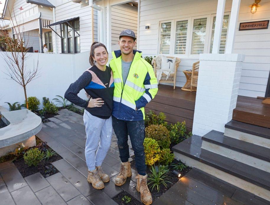 Luke and Jasmin front garden