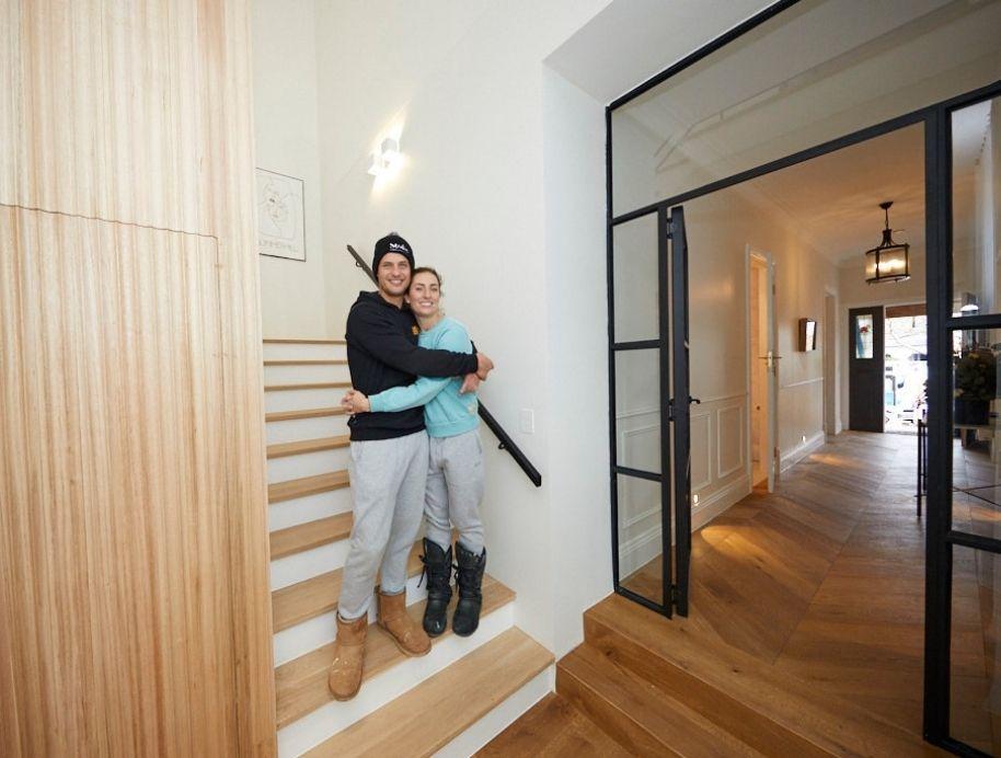 Luke and Jasmin hallway