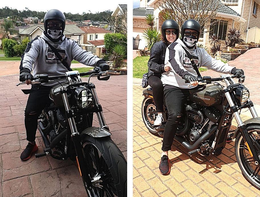 Sarah and George motorbike - The Block