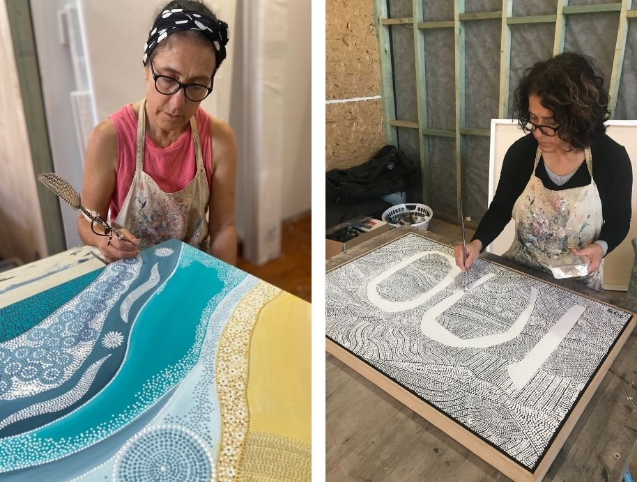 Lizzy Stageman indigenous Block artist