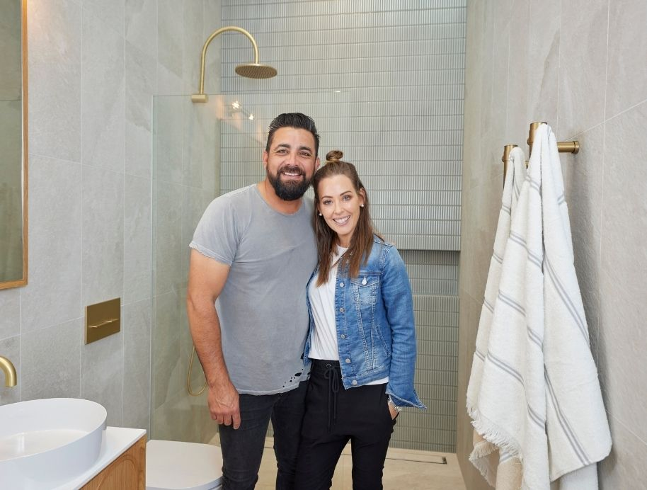 Ronnie and Georgia Master Ensuite on The Block