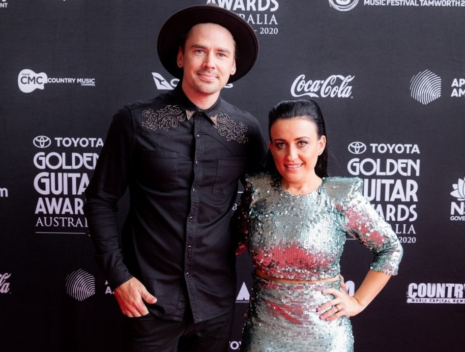 Kirsty and Jesse at Country Music awards