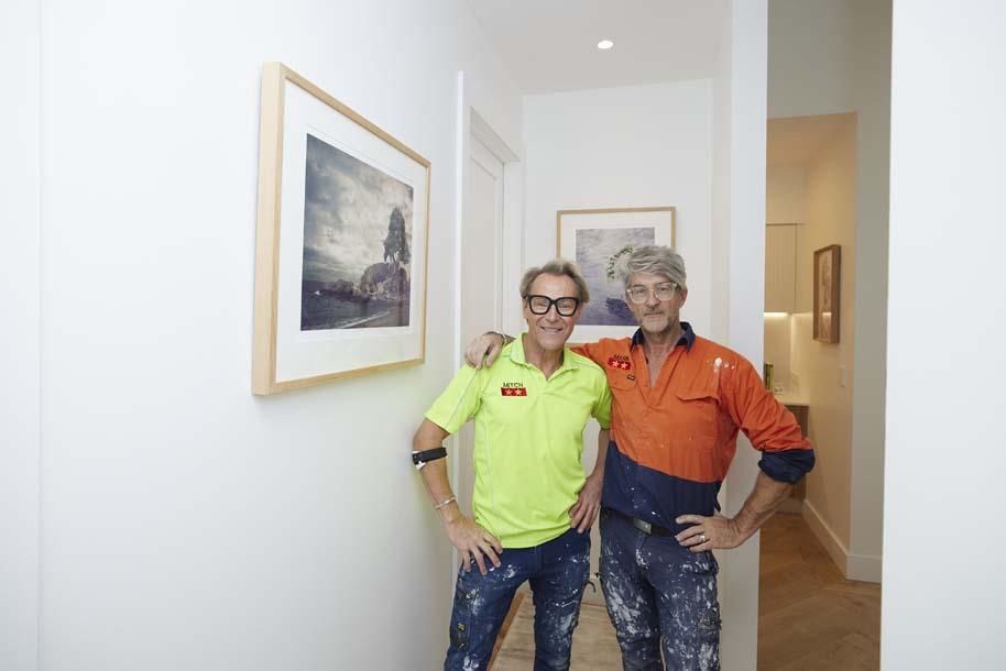 Mitch and Mark Block hallway 2021