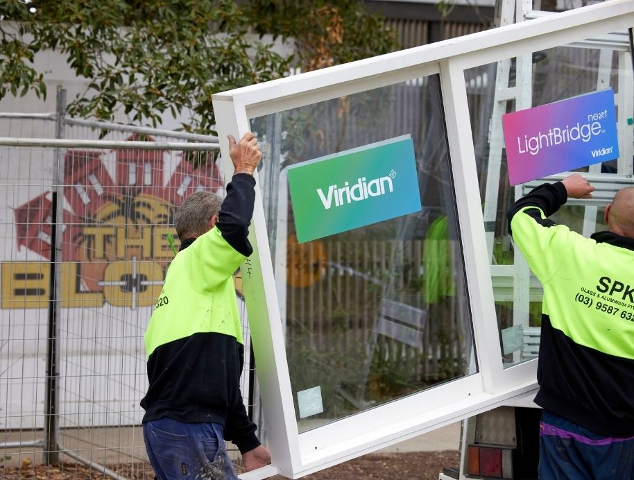 Viridian glass on The Block