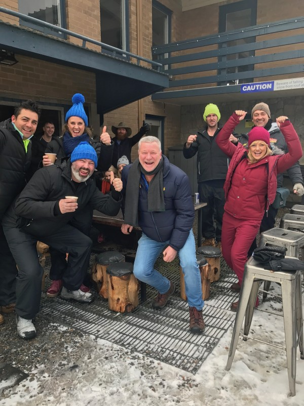 Scott, Shelley and the contestants were pretty happy to be in Mt Buller for the challenge