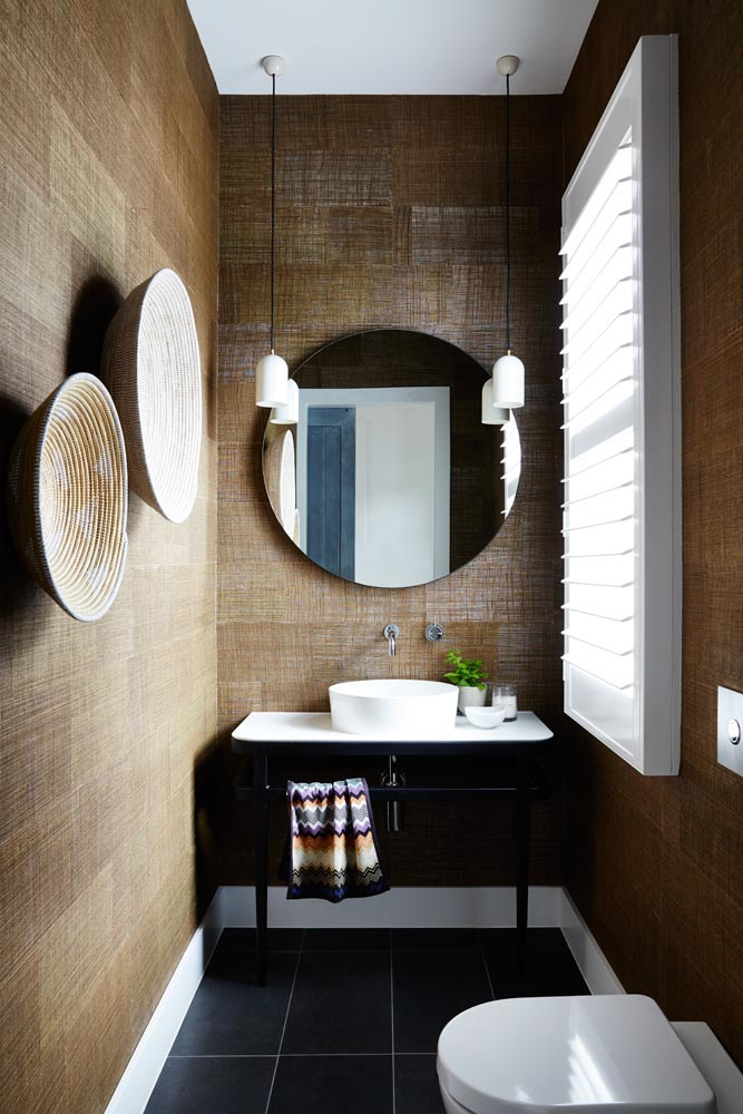 Styling perfection in this powder room