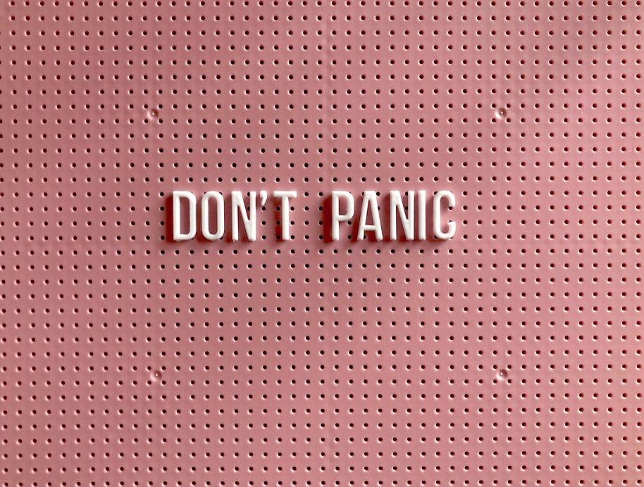 Dont Panic Unsplash