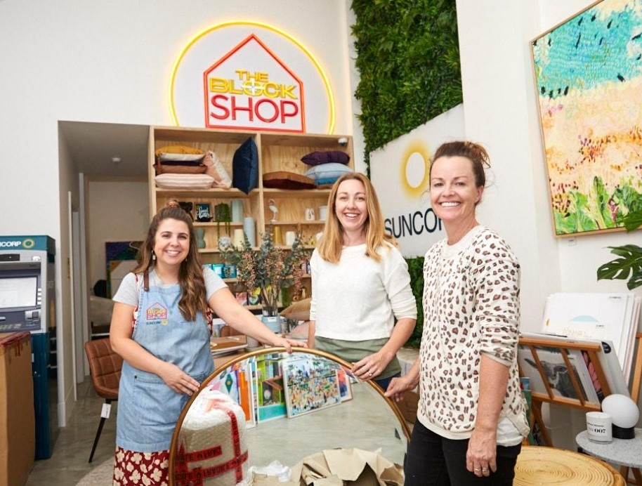 Harrie with Deb and Jenna The Block Shop