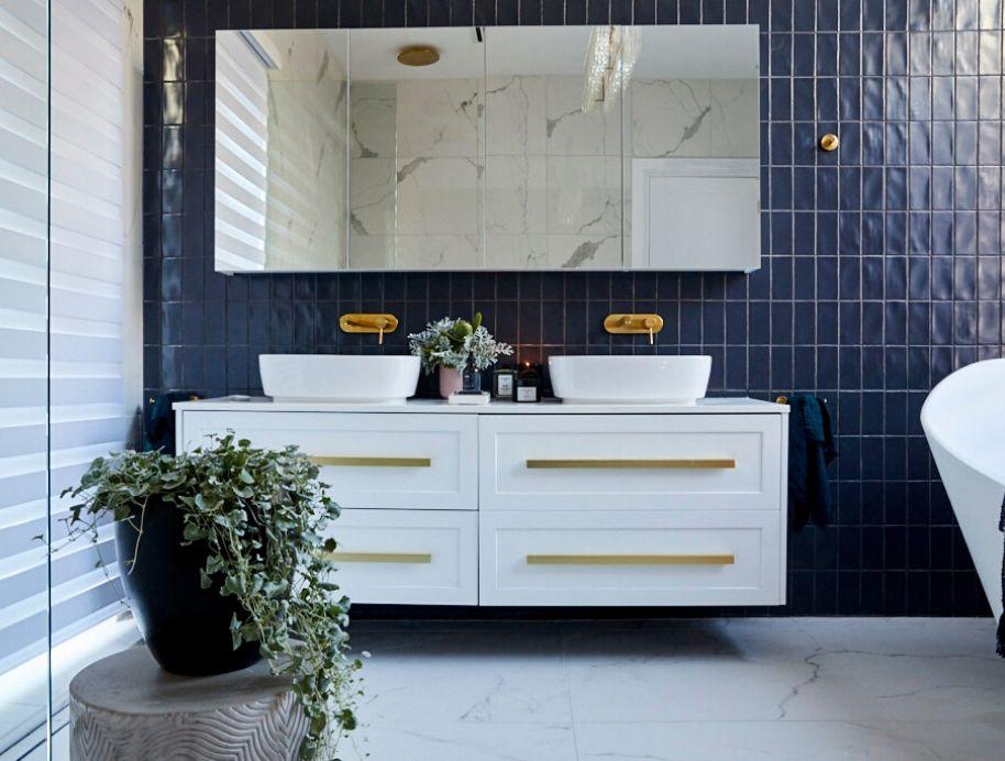 Mitch and Mark bathroom vanity, The Block