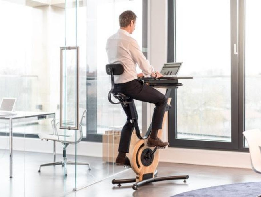 working from exercise bike