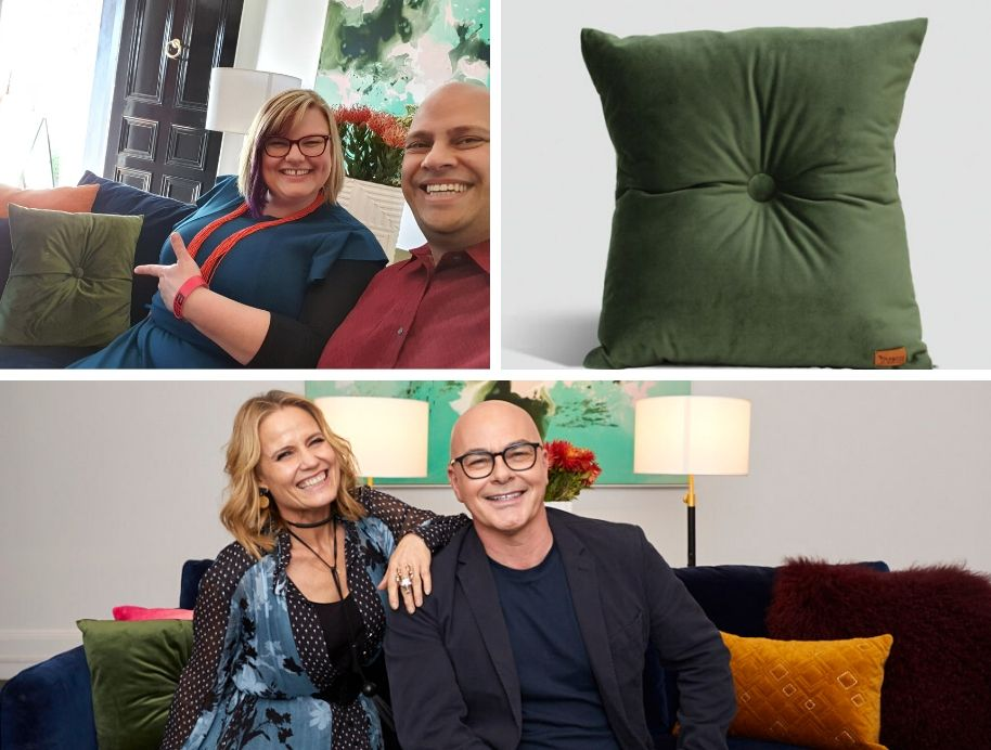 Shaynna and Neal with Martini Furniture - The Block