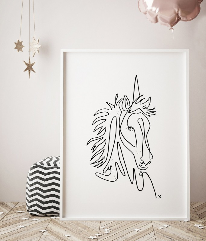 Secret Weapon Creative Unicorn Print The Block Shop