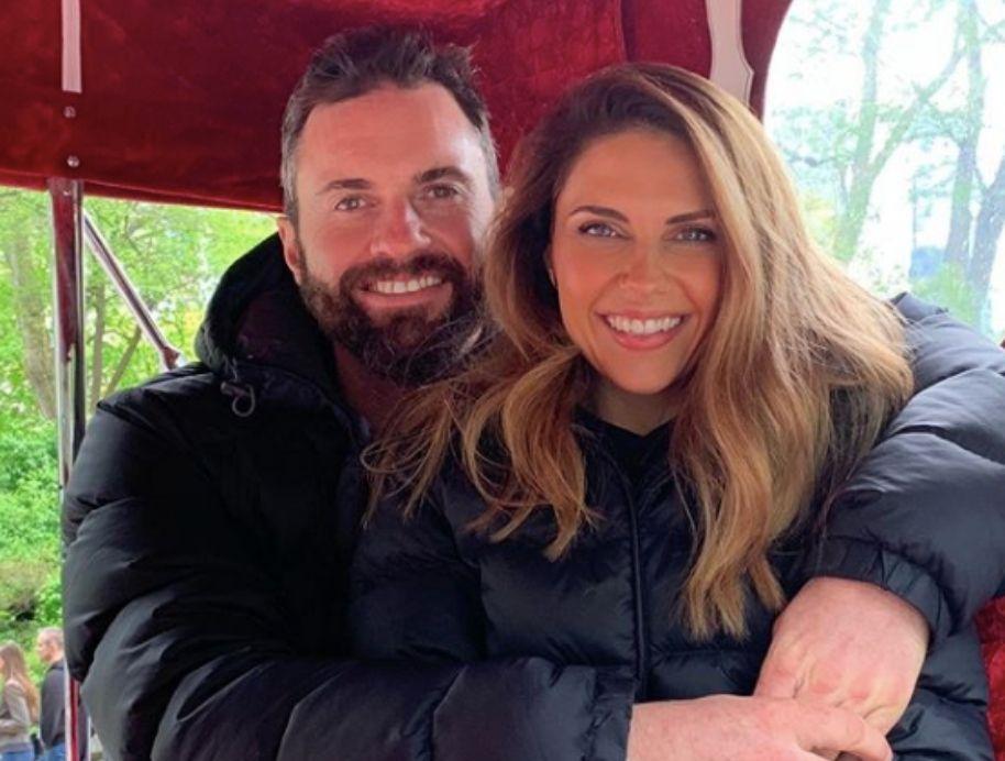 Steve ODonnel with partner Jessica Oxwell
