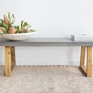 1.45m Elkstone Bench Seat | Speckled Grey and Light Honey