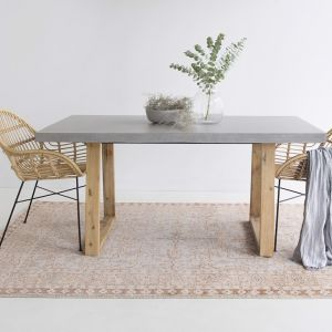 1.6m Alta Dining Table | Speckled Grey & Light Honey