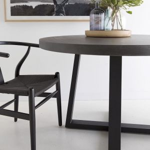 1.6m Alta Round ElkStone Dining Table | Black