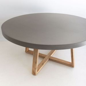 1.6m Elkstone Round Alta Dining Table | Pebble Grey & Light Honey| Pre-order