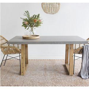 1.8m Alta Dining Table |Speckled Grey & Light Honey