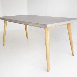 1.8m Oslo Dining Table | Speckled Grey & Light Honey
