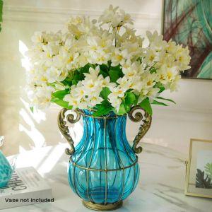 10 Bunch Artificial Silk   Lilium Nanum   6 Heads Flower Fake Bridal Bouquet