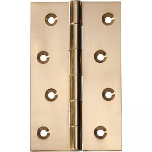 10x6cm Fixed Pin Hinge | Polished Brass | Schots