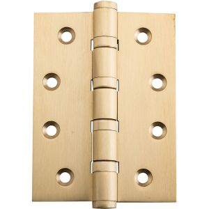 10x7.5cm Ball Bearing Hinge, Satin Brass | Schots