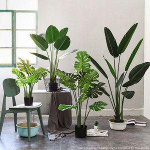 120cm Artificial Green Indoor Turtle Back Fake Decoration Tree Flower Pot Plant