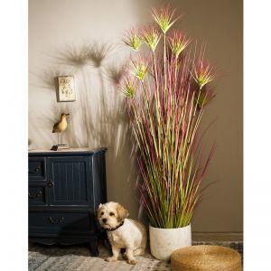 120cm Purple Artificial Indoor Potted Papyrus Plant