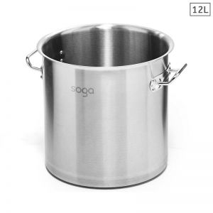 12L Stainless Steel Stockpot without Lid