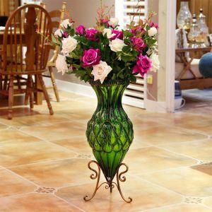 12pcs Artificial Silk Rose Bouquet   Dark Pink